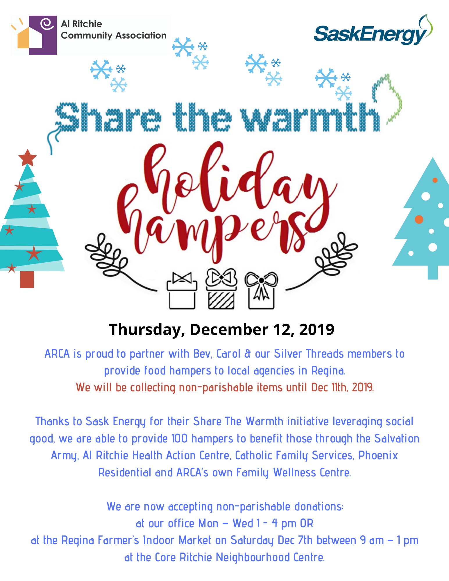 Share the Warmth  Holiday Hampers