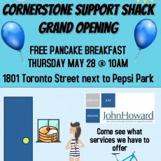 Corner Stone Support Shack Grand Opening Pancake Breakfast